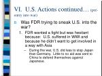 vi u s actions continued pre entry into war26
