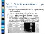 vi u s actions continued pre entry into war28