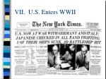 vii u s enters wwii