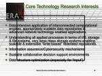 core technology research interests