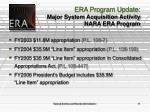 era program update major system acquisition activity nara era program