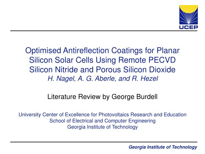 literature review by george burdell n.