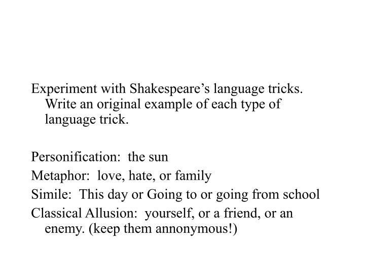 shakespeare metaphors for love