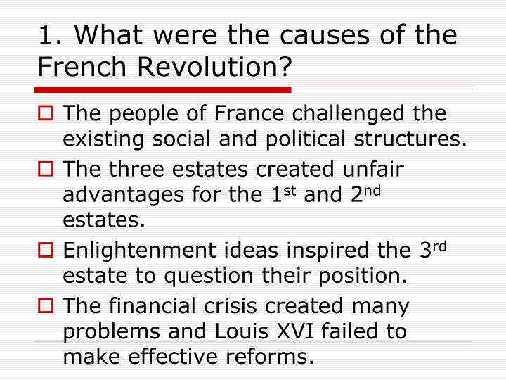 what were the political causes of the french revolution