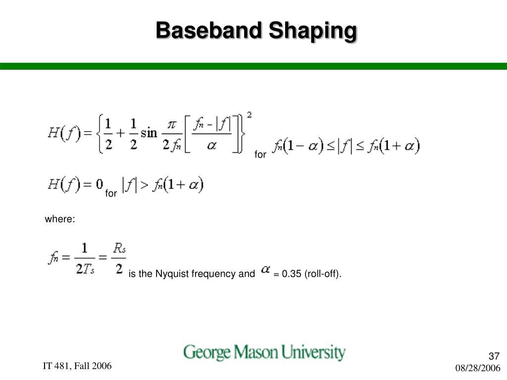 Baseband Shaping
