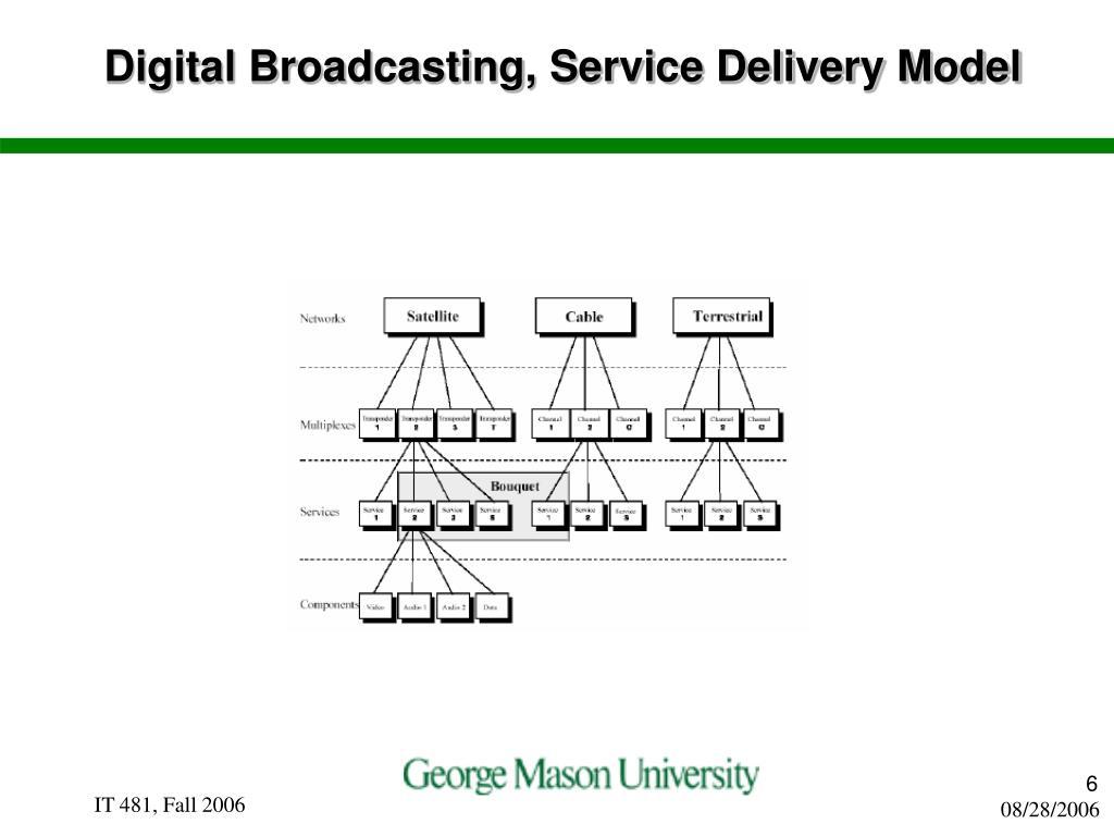 Digital Broadcasting, Service Delivery Model