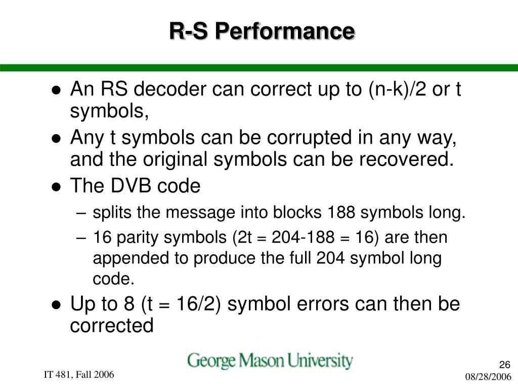 R-S Performance