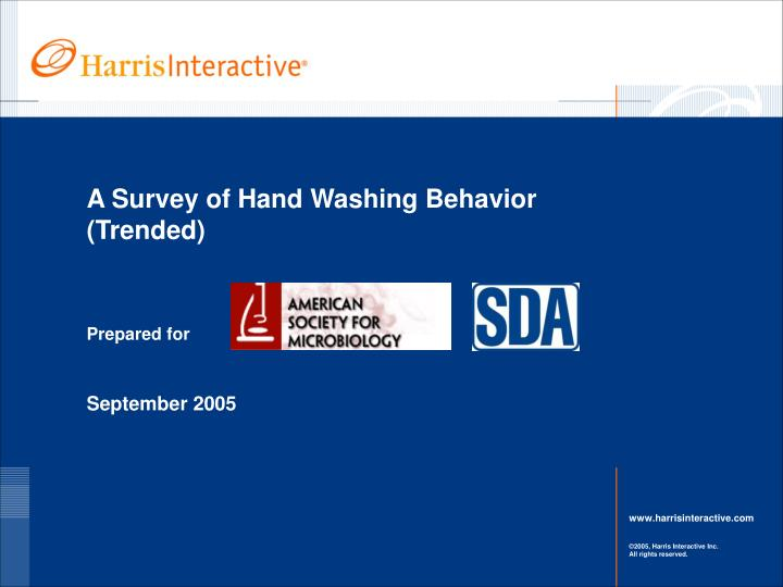 a survey of hand washing behavior trended n.