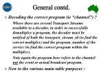 general contd9