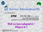 service information si