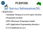 service information si4