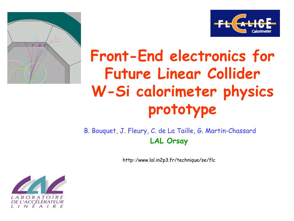front end electronics for f uture l inear c ollider w si calorimeter physics prototype l.