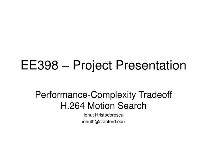 ee398 project presentation n.