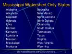 mississippi watershed only states