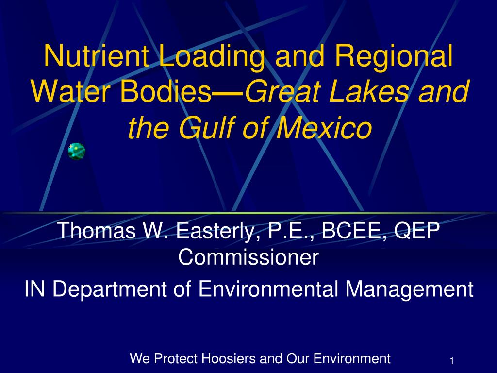 nutrient loading and regional water bodies great lakes and the gulf of mexico l.