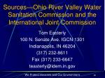 sources ohio river valley water sanitation commission and the international joint commission