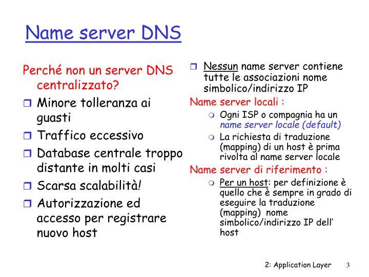 Name server dns