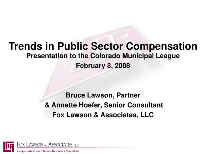 trends in public sector compensation n.
