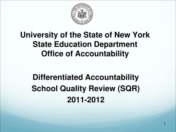 university of the state of new york state education department office of accountability n.