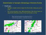 determination of synoptic climatology of extreme events7