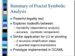 summary of fractal symbolic analysis