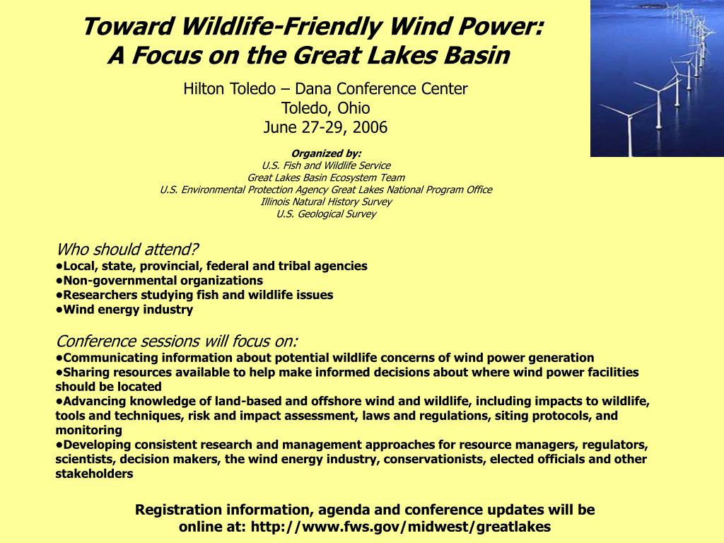 toward wildlife friendly wind power a focus on the great lakes basin l.
