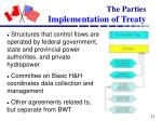 the parties implementation of treaty