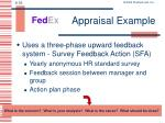 appraisal example
