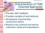 characteristics of tqm oriented appraisals1