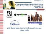 computerized performance appraisal