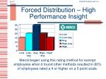 forced distribution high performance insight