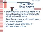 its all about expectations