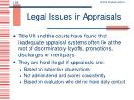 legal issues in appraisals