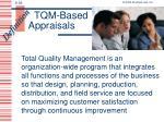 tqm based appraisals
