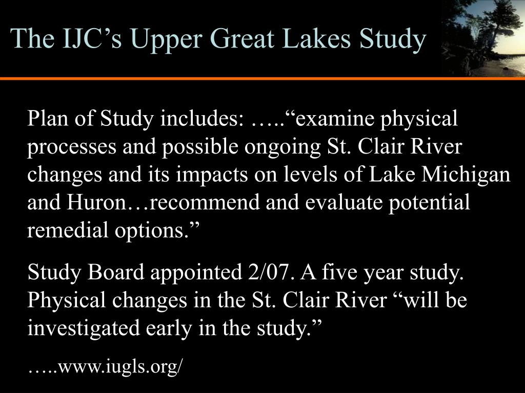 The IJC's Upper Great Lakes Study