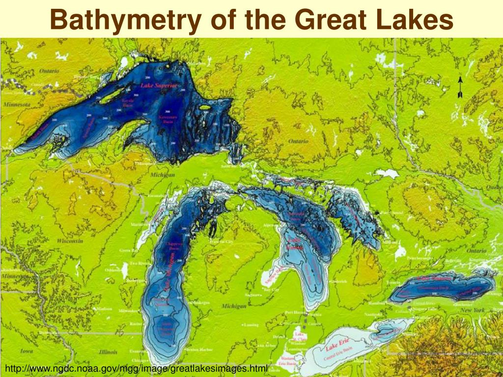 Bathymetry of the Great Lakes