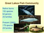 great lakes fish community