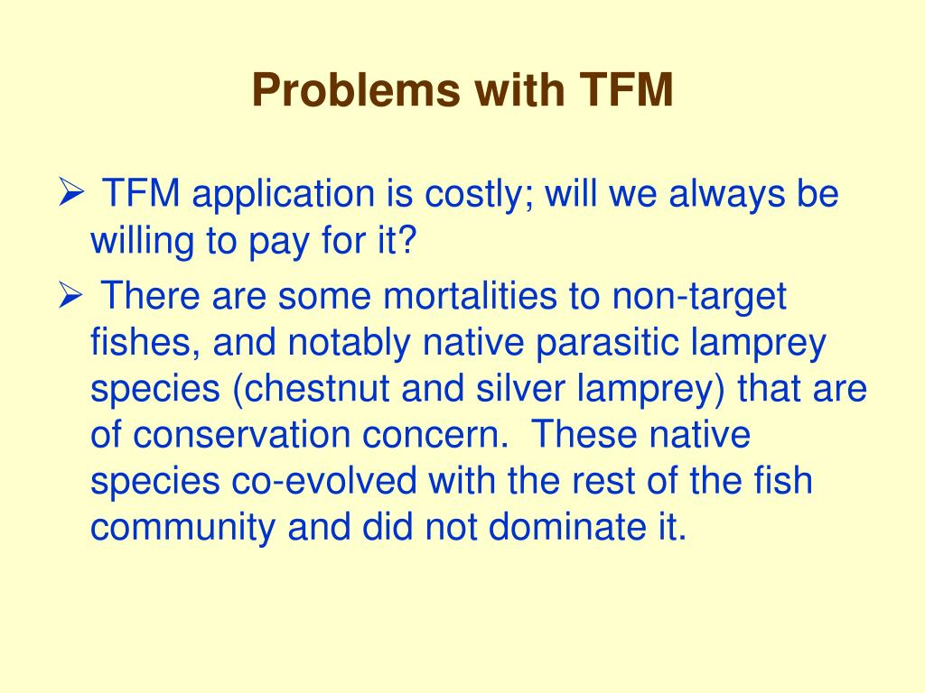 Problems with TFM