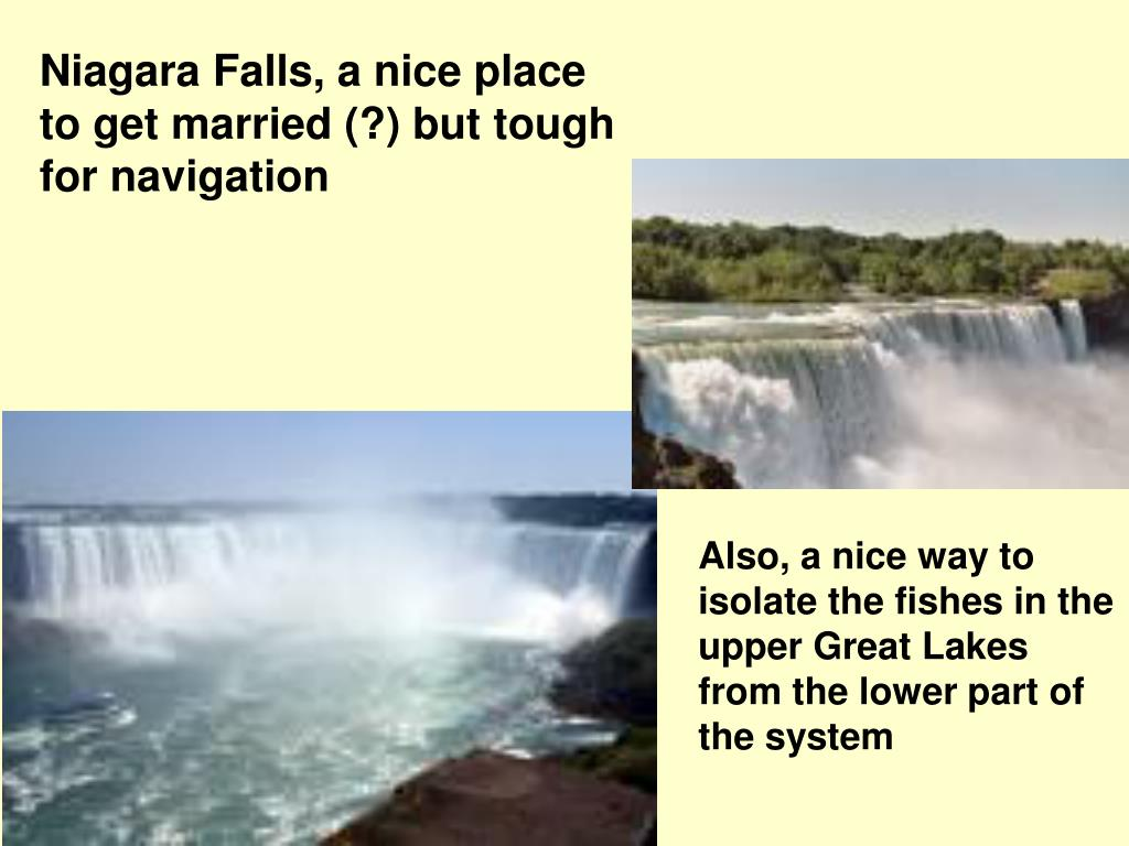 Niagara Falls, a nice place to get married (?) but tough for navigation