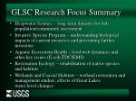 glsc research focus summary