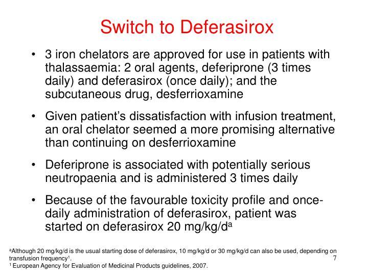 Switch to Deferasirox
