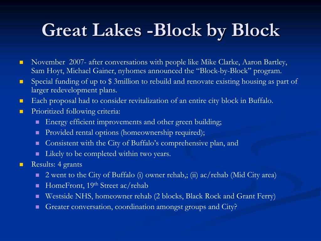 Great Lakes -Block by Block