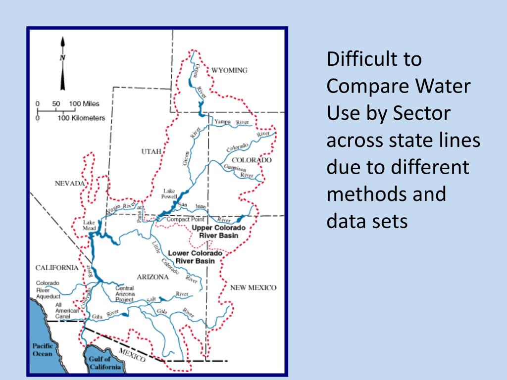 Difficult to Compare Water Use by Sector across state lines due to different methods and data sets