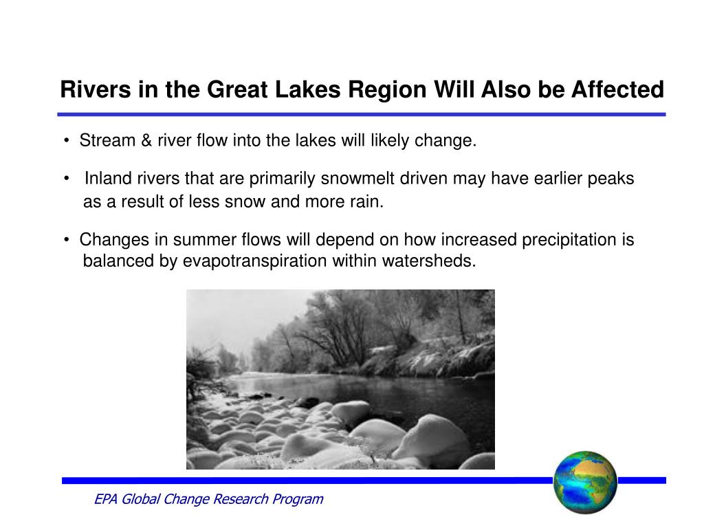 Rivers in the Great Lakes Region Will Also be Affected