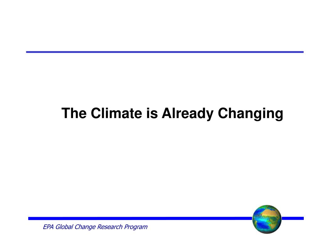 The Climate is Already Changing