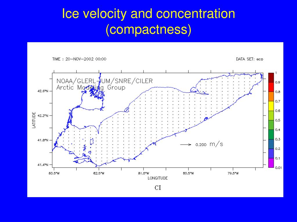 Ice velocity and concentration (compactness)