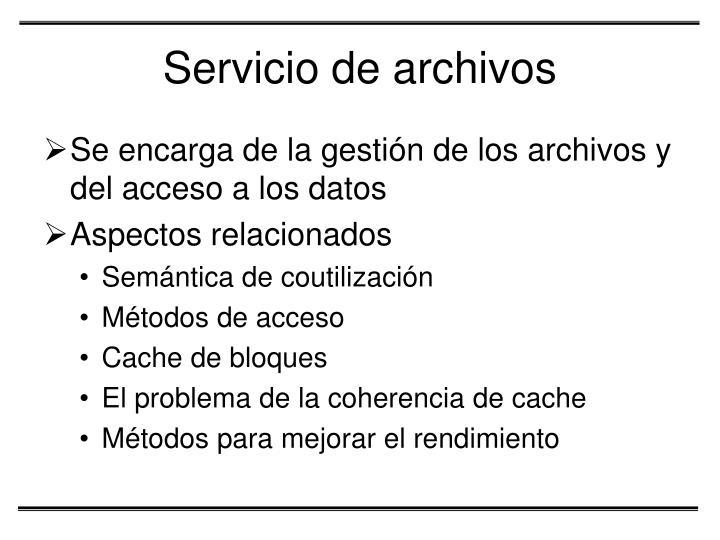 Servicio de archivos