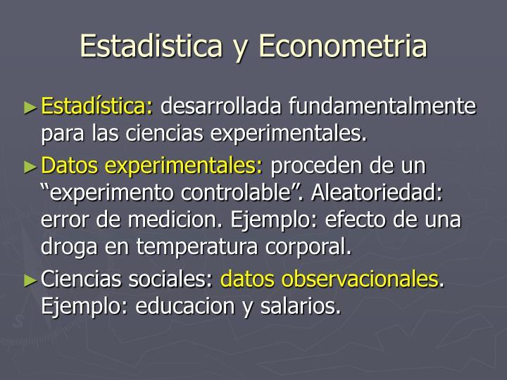 Estadistica y Econometria