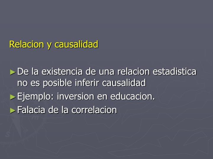 Relacion y causalidad