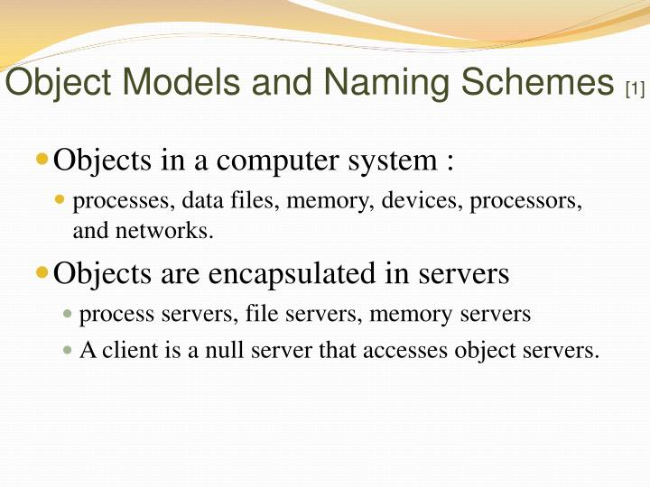 Object Models and Naming Schemes